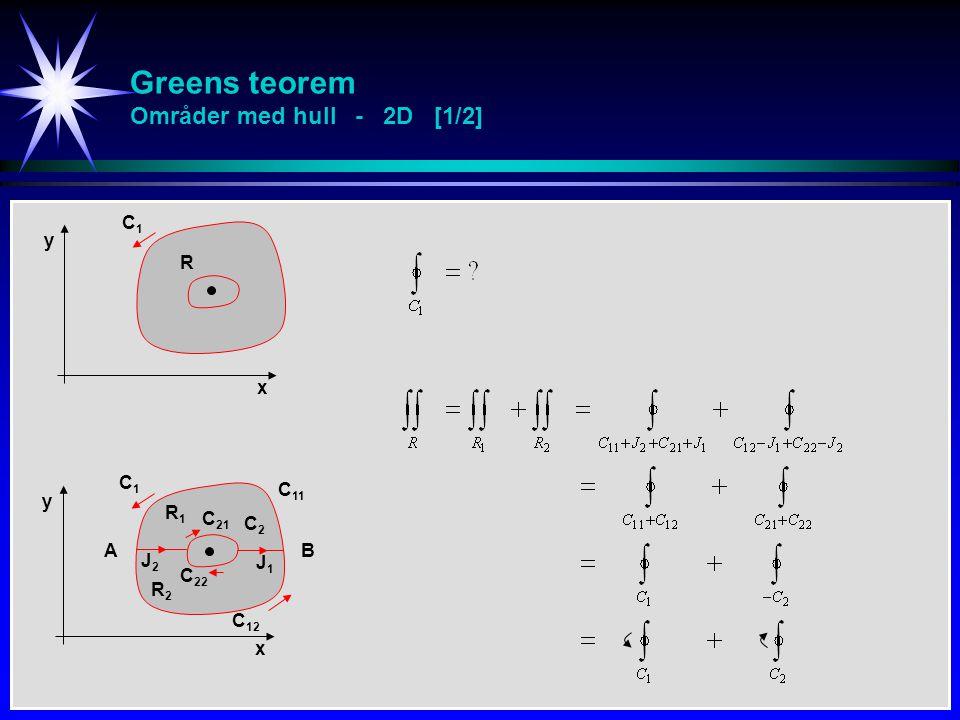 Greens teorem Områder med hull - 2D [1/2]